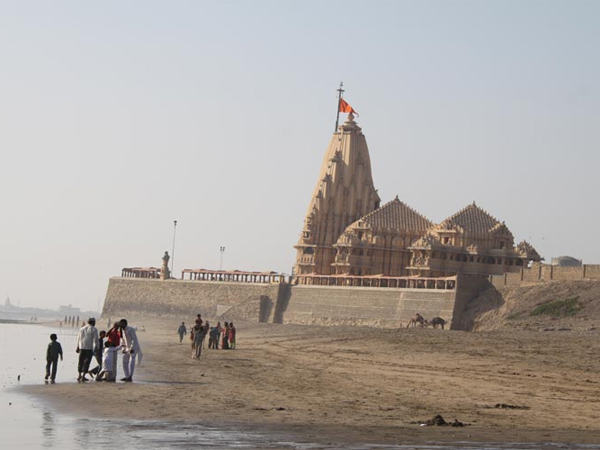 Somanth Temple Is Famous Religious Tourist Place Gujarat