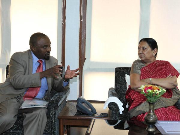 Governor Kenyan State Uasin Gishu Met Gujarat Cm