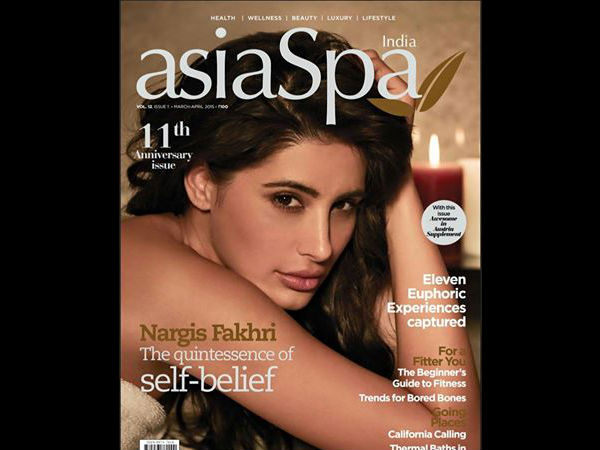 Nargis Fakhri Hot Photoshoot Asia Spa Magazine Anniversary Issue