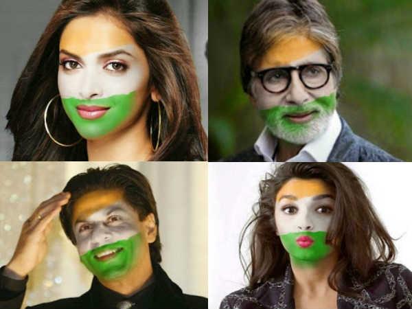 India Australia Celebs Cheering India With Patriotism