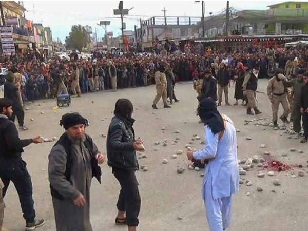 Isis Shocking Images Released Couple Being Stoned Death Sex Before Marriage