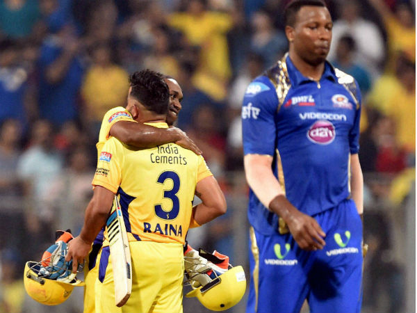 Ipl 2015 Chennai Super Kings Cruise 6 Wicket Win Over Mumbai Indians