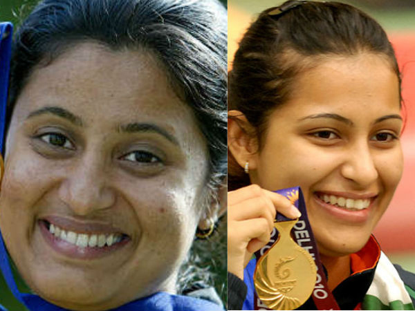 Indian Shooters Heena Sidhu Anjali Bhagwat Barred Board Flight Back Home