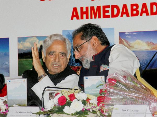 J K Cm Mufti Mohammad Sayeed Visit Gujarat Promote Tourism