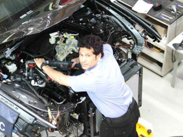 Pics Sachin Tendulkar At Bmwt 2015 Plant Chennai