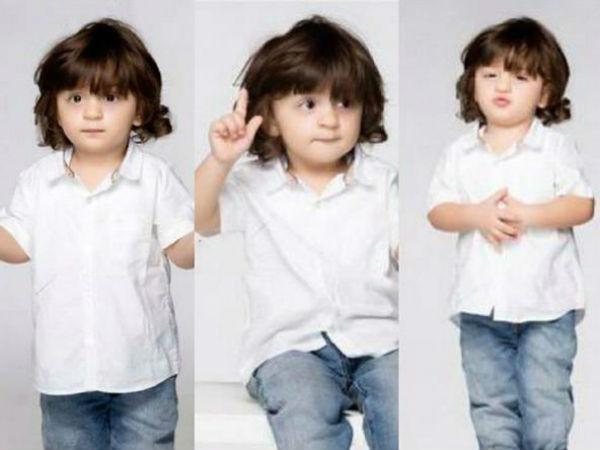 Pics Shahrukh Khan Son Abram Cute Photoshoot