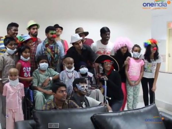 Students Who Try Put On Smile On The Cancer Patients