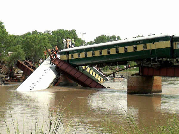 Pakistan Train Fell Canal Accident Could Be Sabotage