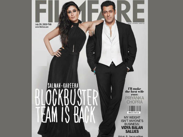 Salman Khan Kareena Kapoor Pose Filmfare