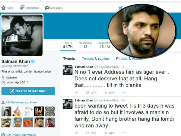 Reasons Behind Salman Khan 14 Tweets On Yakub Memon