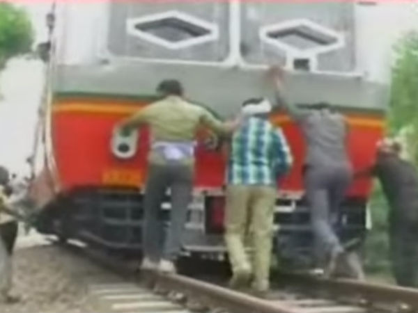 Video Train Was Pulled The People Mathura 10 Km