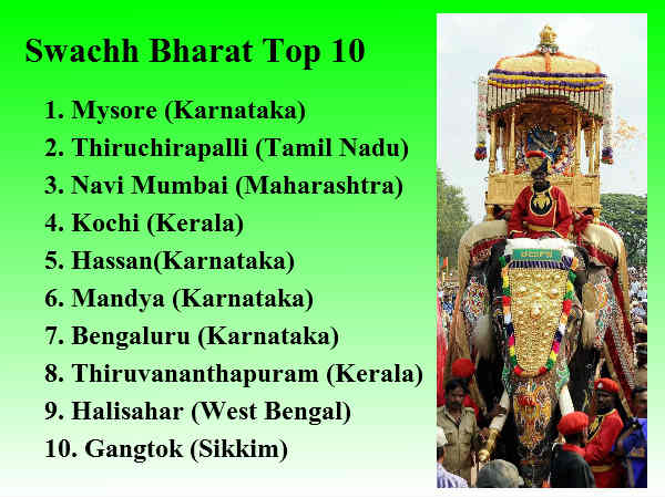 Swachh Bharat Rankings List Of Cleanest Dirtiest Cities