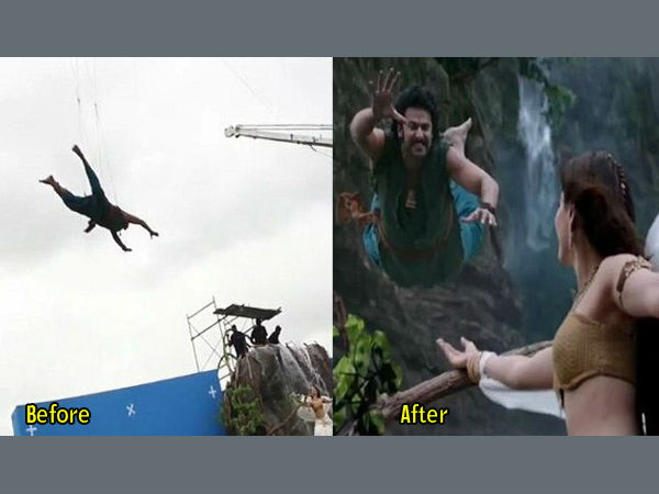 Famous Scenes Bahubali Were Not Real Created Through Vfx