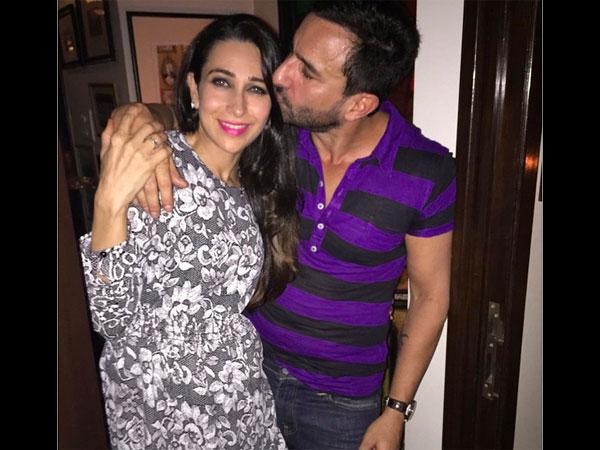 Saif Ali Khan Caught Kissing Karishma Kapoor At His B Day Party