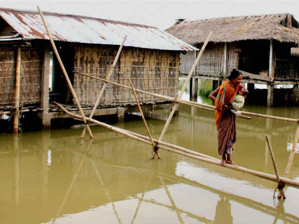Pics Flood Situation Grim Assam