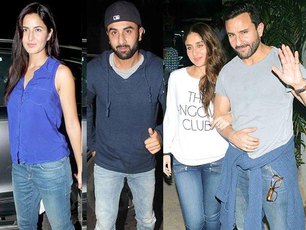 Family Bonding Ranbir Kapoor Katrina Kaif Kareena Kapoor Saif Ali Khan Phantom Movie