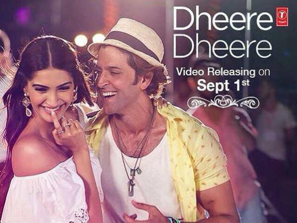 First Look Hrithik Roshan Sonam Kapoor Dheere Dheere Song