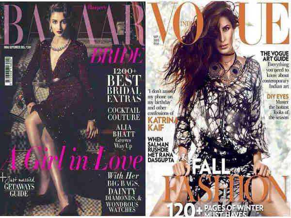Alia Bhatt Katrina Kaif Hottest Magazine Covers