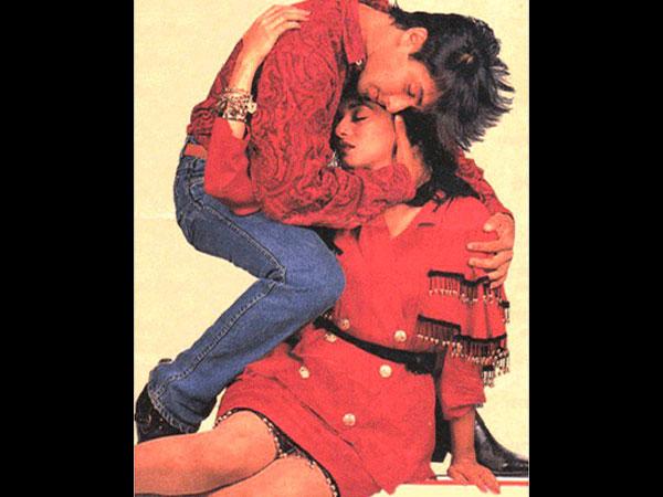 Salman Khan Madhuri Dixit S Unseen Sensuous Photoshoot Magazine 027117 Pg