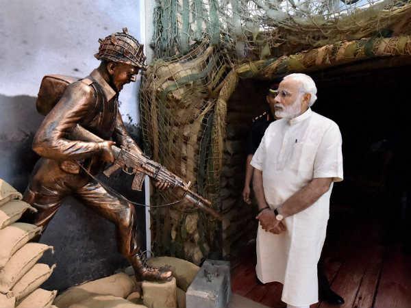 Pm Narendra Modi Visits 1965 War Exhibition Shauryanjali On His Birthday Rajpath