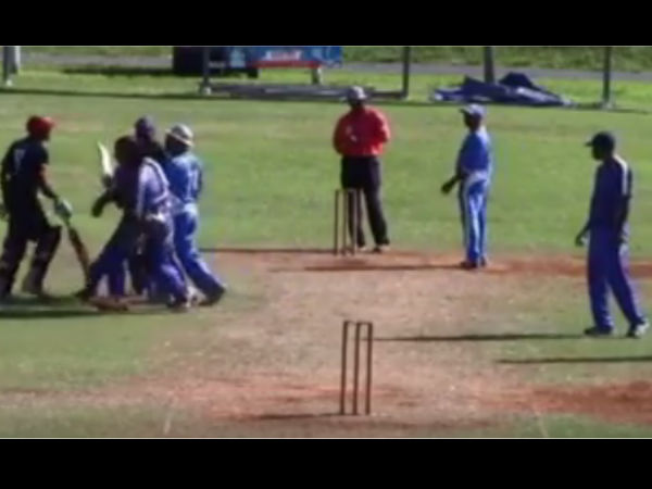Watch The Real Fight Between The Player During The Cricket Match