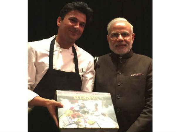 Govt Takes Back Flag From Chef Vikas Khanna Autographed Pm Modi Newyork Us