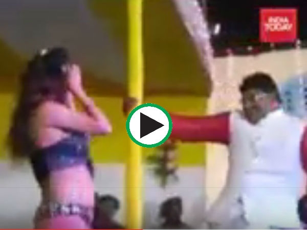 Video Bihar Jdu Candidate Abhay Kushwaha Pole Dances With Girl