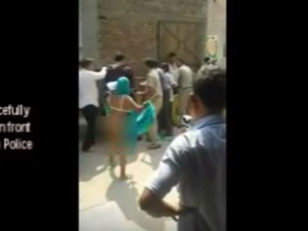 Dalit Family S Nude Protest Greater Noida Video Goes Viral