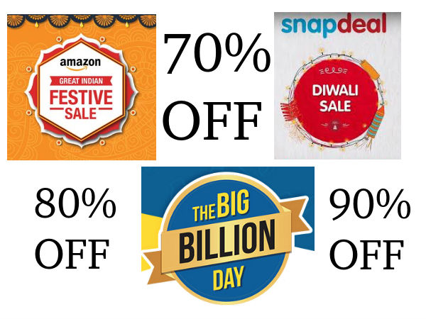 Top 30 Offers From Amazon Great Indian Festival Snapdeal Diwali Sale