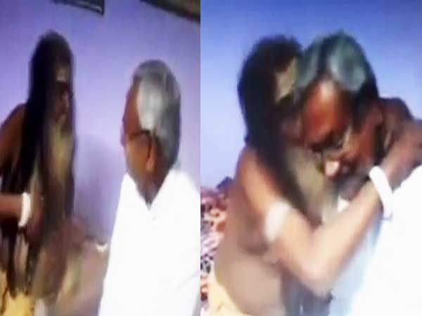 Watch Video Bihar Cm Nitish Kumar Met A Tantrik Who Said Lalu Murdabad