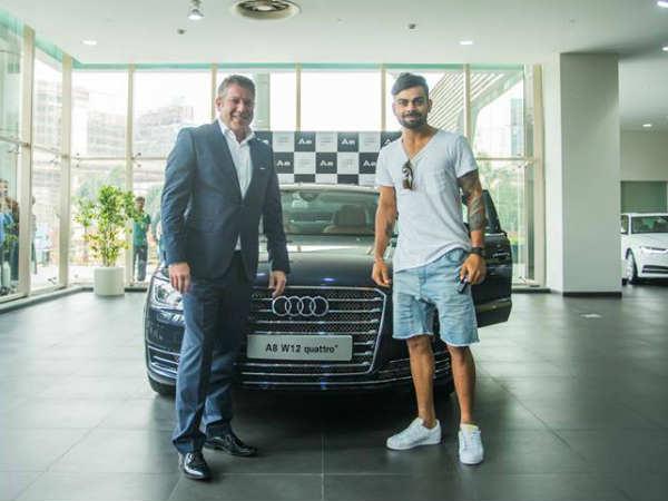 Pics Virat Kohli Takes Delivery Of Audi A8l W12 Quattro