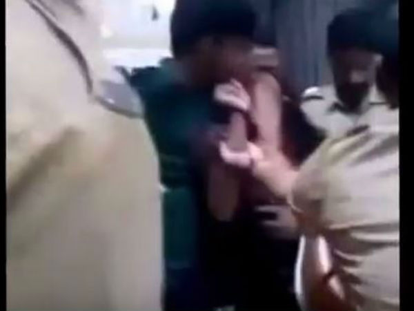 Video Mumbai Cops Beating Couple Goes Viral Probe On