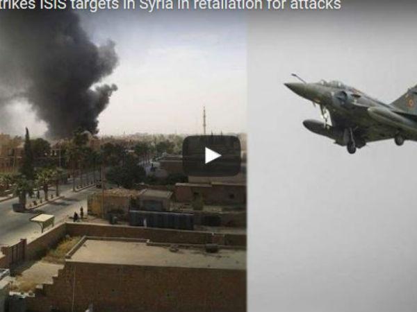 France Warplanes Strikes Isis Raqqa Syria