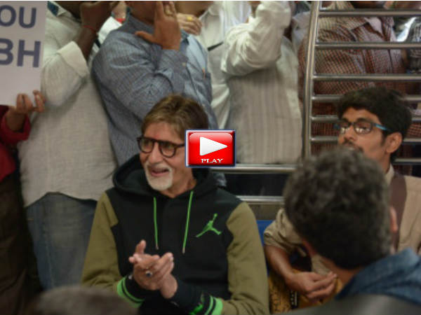 Amitabh Bachchan Takes Local Train Ride Mumbai