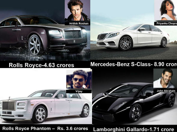 Indian Stars Their Favorite Cars