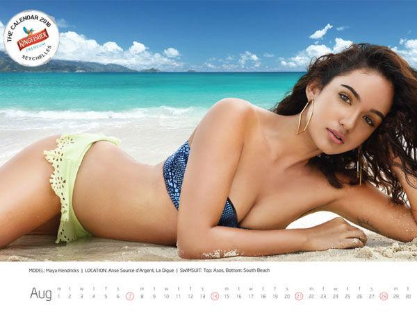 Kingfisher Calendar 2016 Hottest Models Show Topper