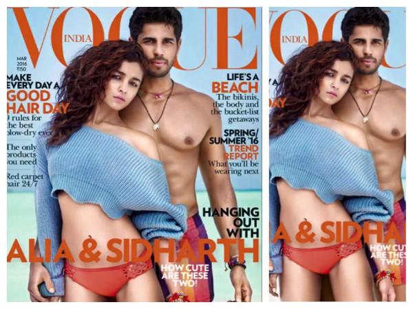 Alia Bhatt Bikini Sidharth Malhotra Topless On Vogue India