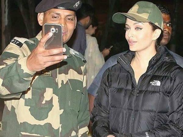 Actress Aishwarya Rai Bachchan Meets Bsf Soldiers