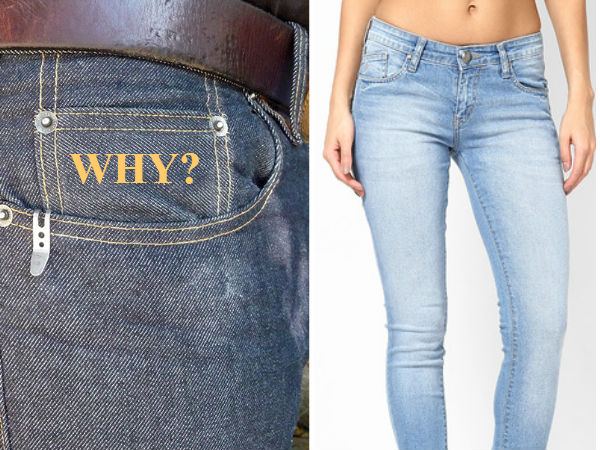 See In Pics History Of Small Tiny Little Pocket Jeans Pants