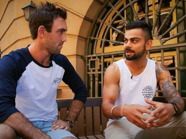 Watch Candid Interview Of Virat Kohli To Maxwell