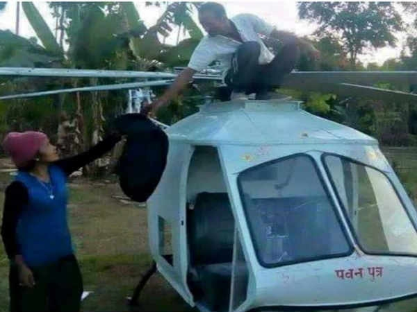 rd Class Pass Welder Sagar Prasad Has Built Helicopter