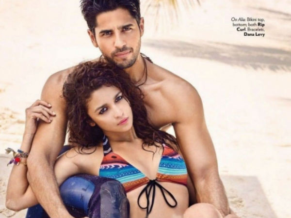 Alia Bhat Romancing With Sidharth On Photoshoot Vogue March