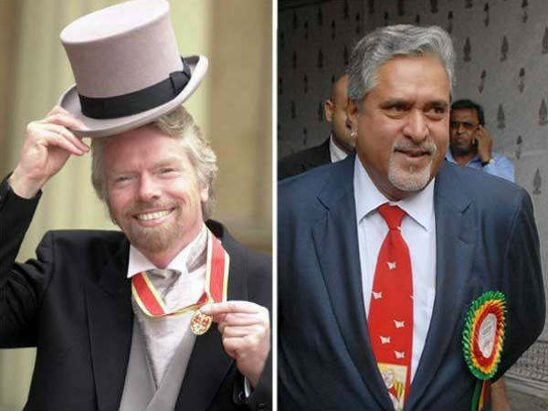 Pics Similarities Between Vijay Mallya And Richard Branson
