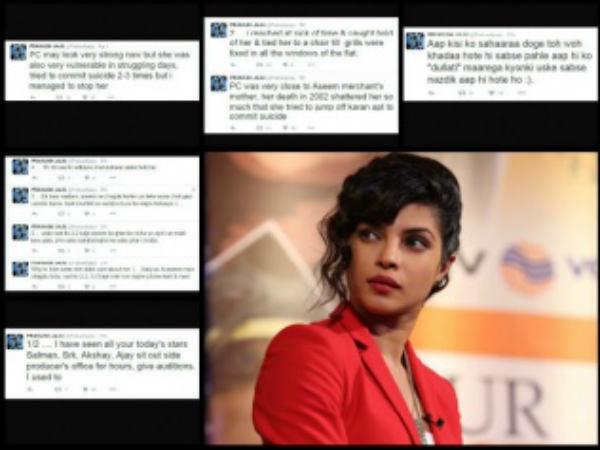 Priyanka Chopra Tried Commit Suicide Twice Says Ex Manager