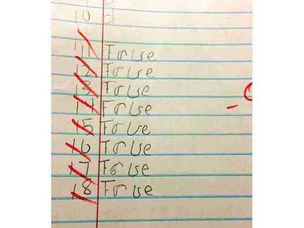 Hilarious Answers From Kids During Exams