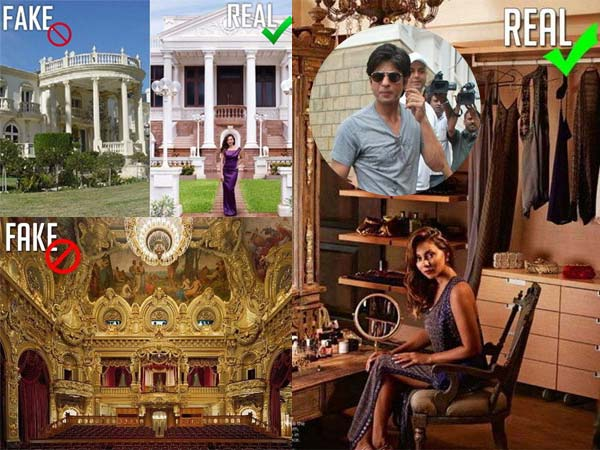 Real Fake Pictures Shahrukh Khan Gauri S Royal Home Mannat
