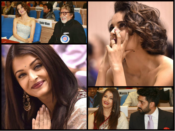 Aishwarya Rai Bachchan Kangana Ranaut From The National Awards 029086 Pg