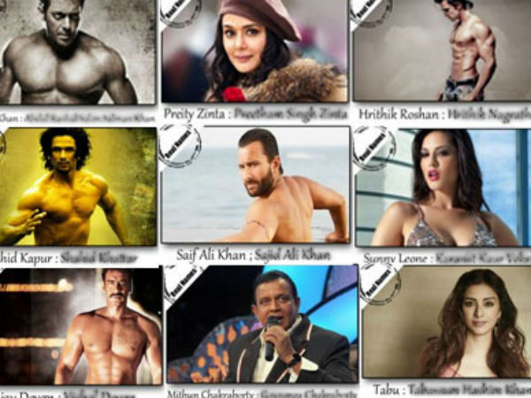 Real Names Bollywood Celebrities
