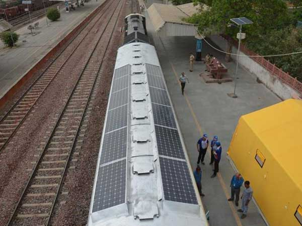 India S First Solar Powered Train Set Trial