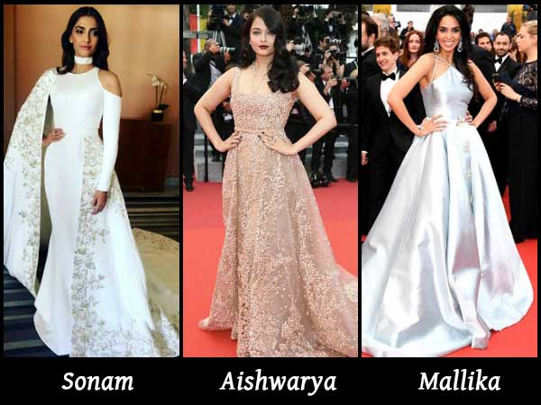 Sonam Kapoor Aishwarya Rai Bachchan Set The Red Carpet
